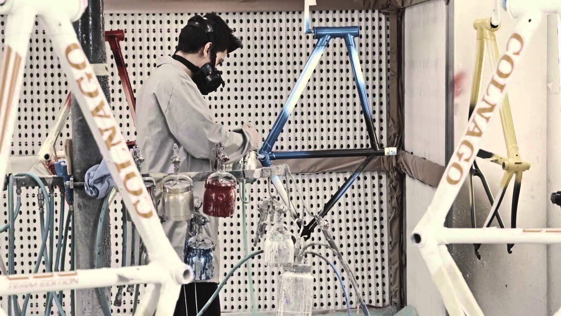 Watch the Colnago c60 painting process from their base in Tuscany